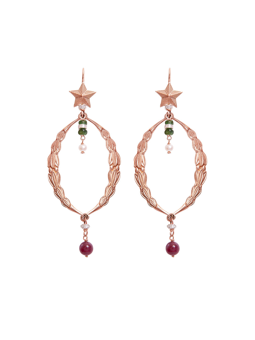 Fiorina Jewellery Magnificence Earrings Rose Gold