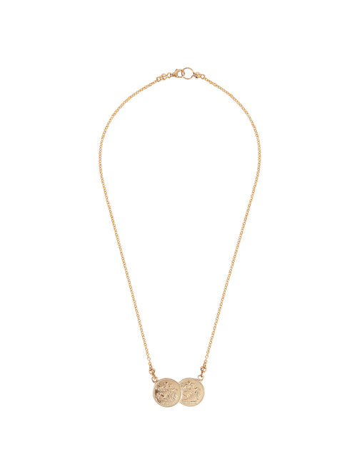 Fiorina Jewellery Saint George 9ct Gold Necklace Small