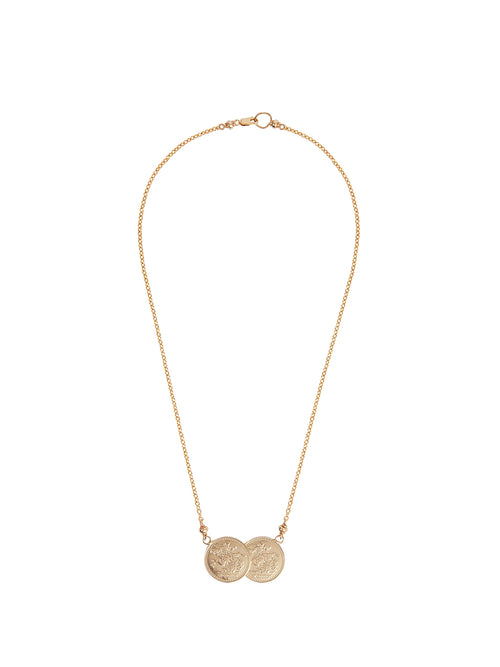 Fiorina Jewellery Saint George 9ct Gold Necklace Medium