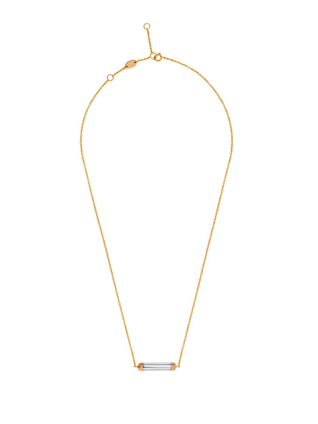 Fiorina Jewellery Manifest Necklace White Gold Bar