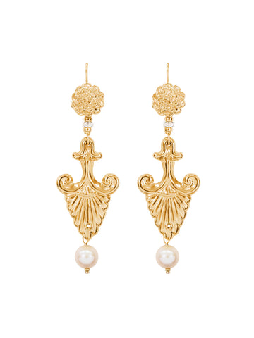 Gold Carita Tassel Earrings