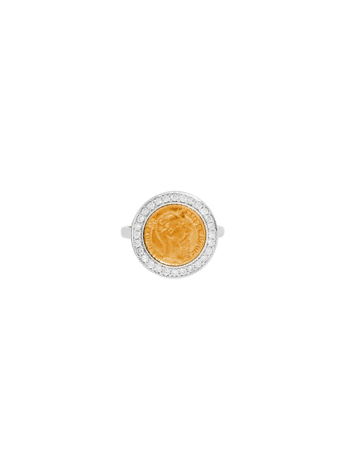 Fiorina Jewellery Gold Button Pinkie Ring