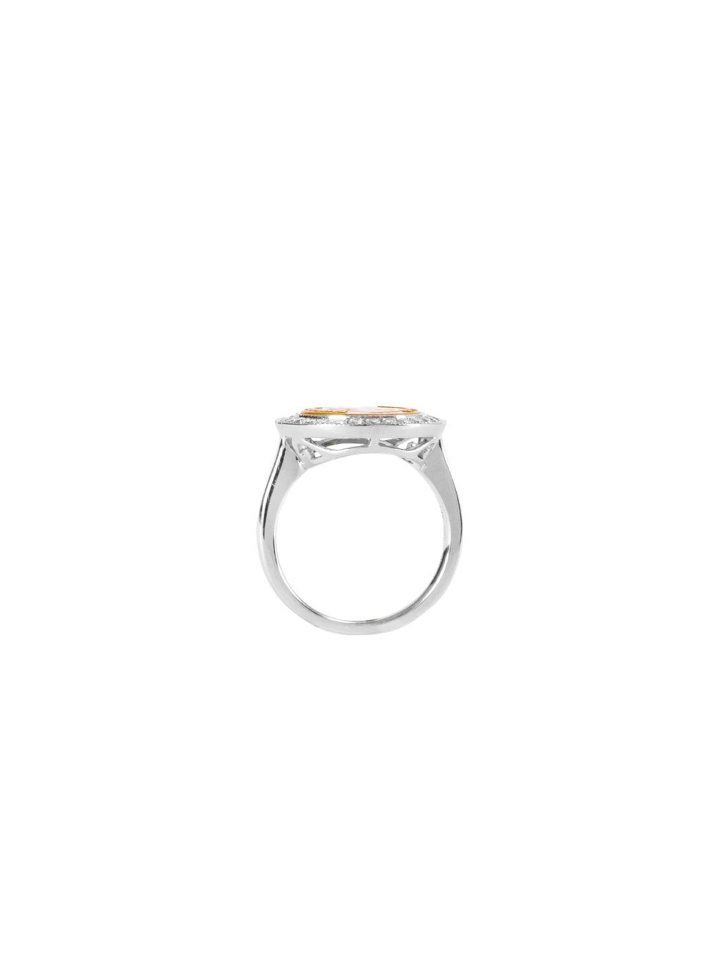 Fiorina Jewellery Gold Button Pinkie Ring Finger View