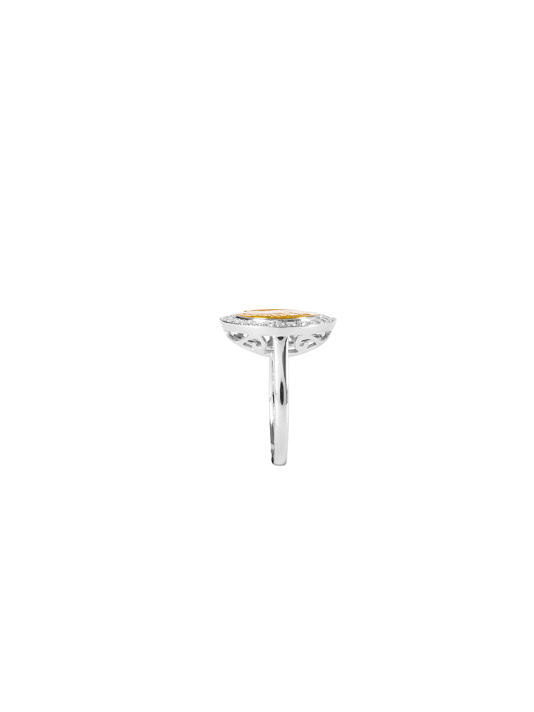 Fiorina Jewellery Gold Button Pinkie Ring Side View