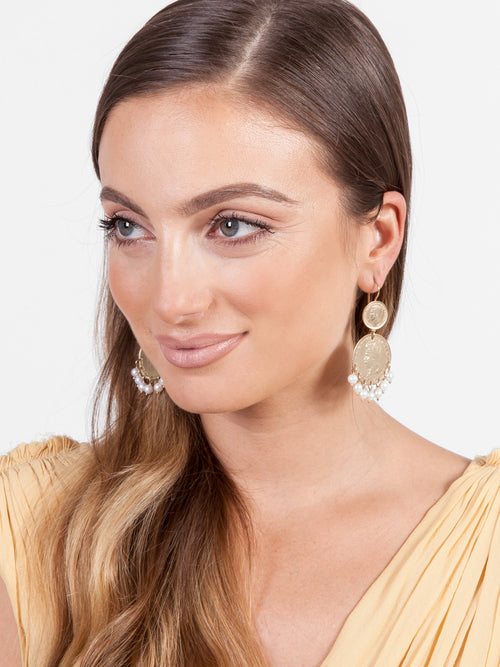 Fiorina Jewellery Gold Mini Marrakesh Earrings Model