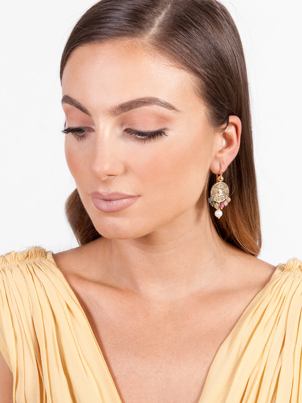Fiorina Jewellery Gold Joy Earrings Model