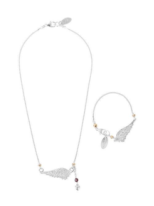Fiorina Jewellery Divine Set Herald Necklace and Bracelet