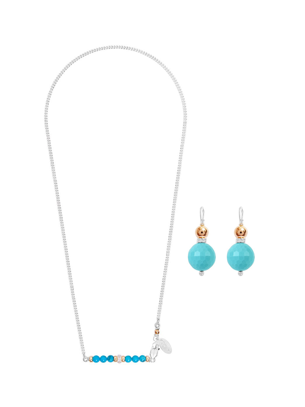 Fiorina Jewellery Romantic Set Romance Necklace and Double Ball Earrings