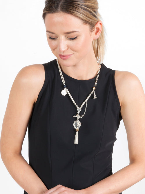 Fiorina Jewellery Arabella Necklace Black Onyx Model
