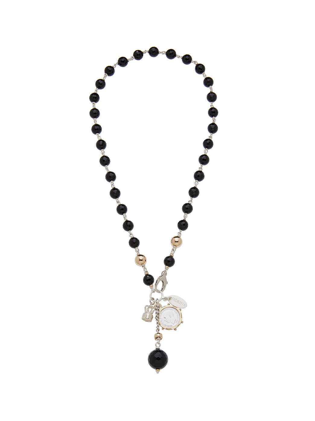Fiorina Jewellery Pearlina Necklace Black Onyx