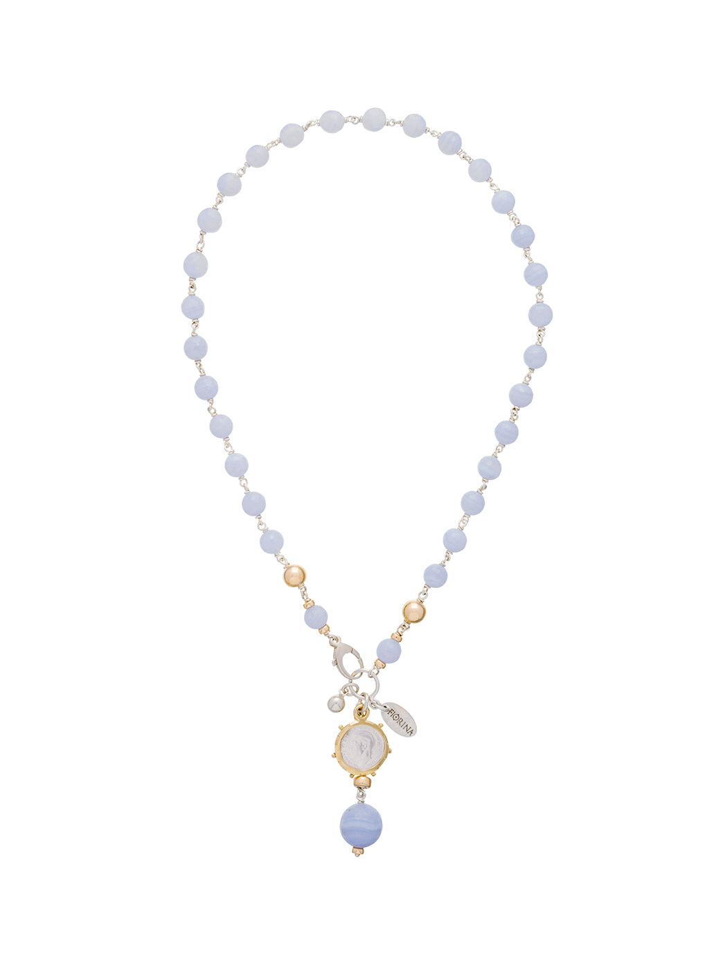 Fiorina Jewellery Pearlina Necklace Chalcedony