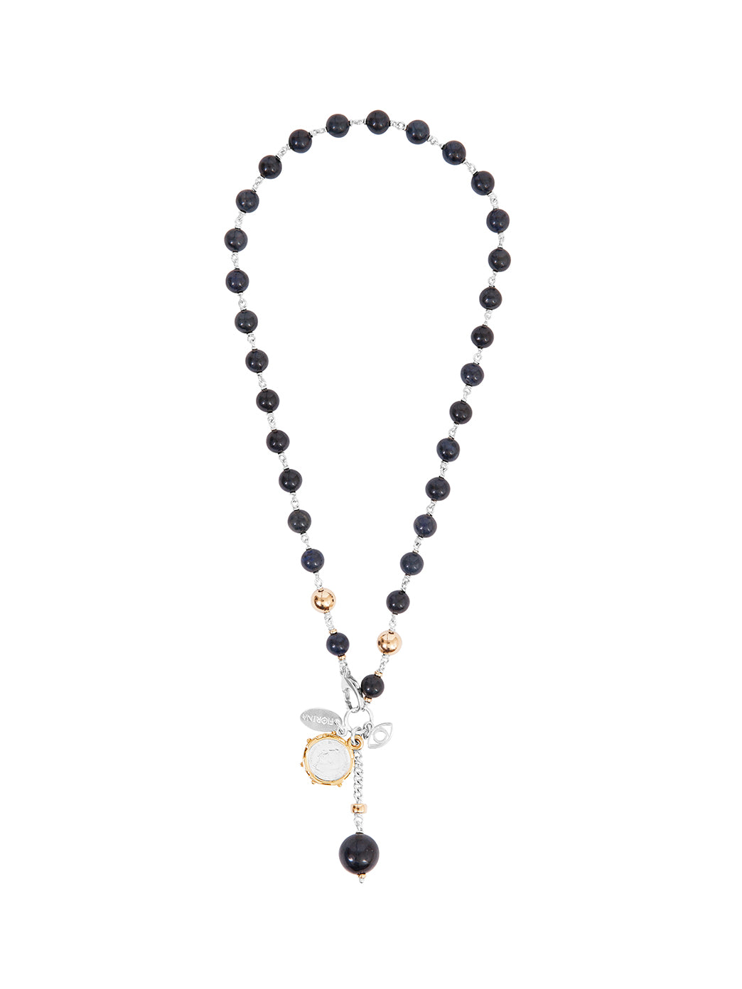 Fiorina Jewellery Pearlina Necklace Navy