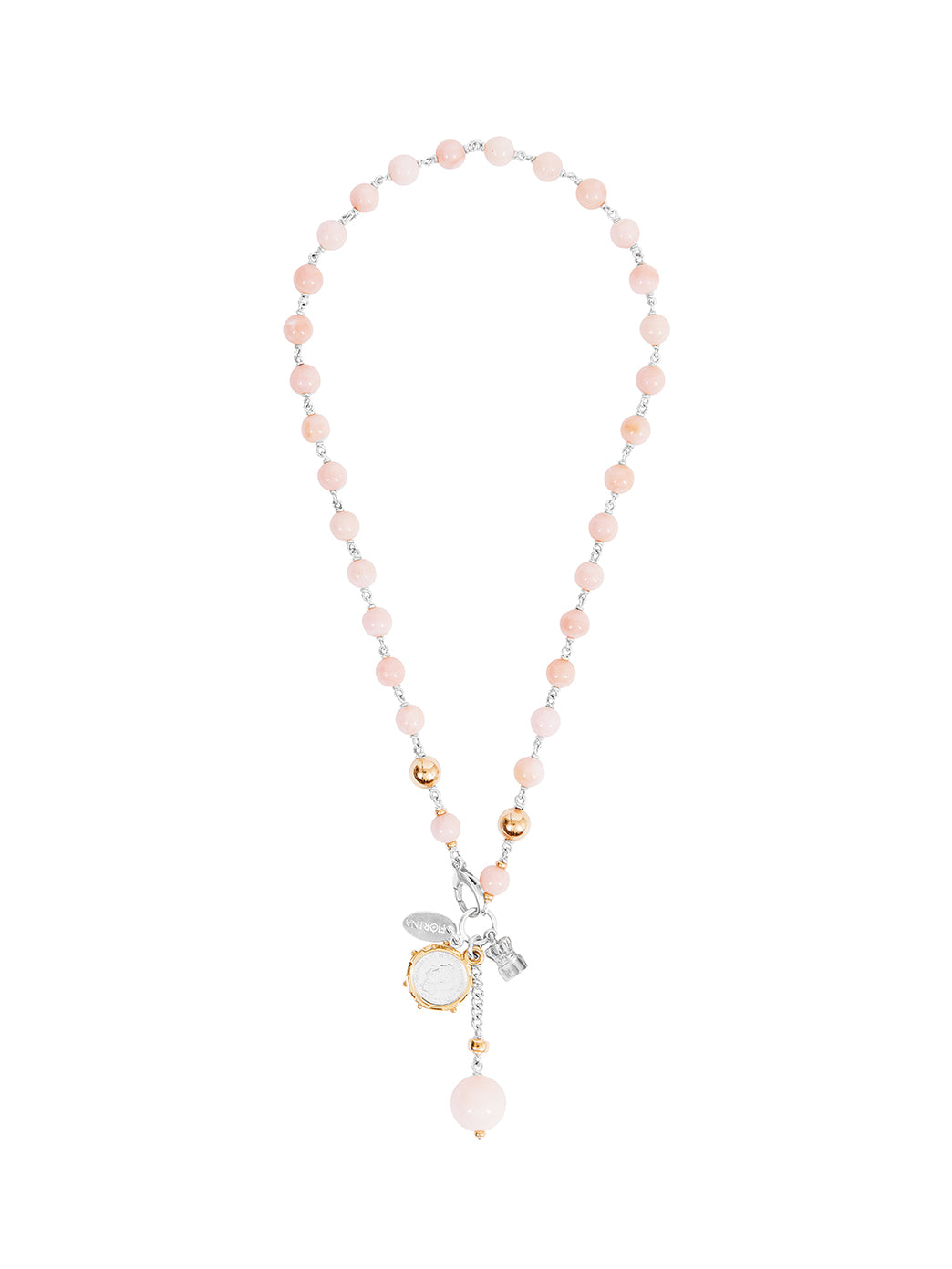 Fiorina Jewellery Pearlina Necklace Pink Opal