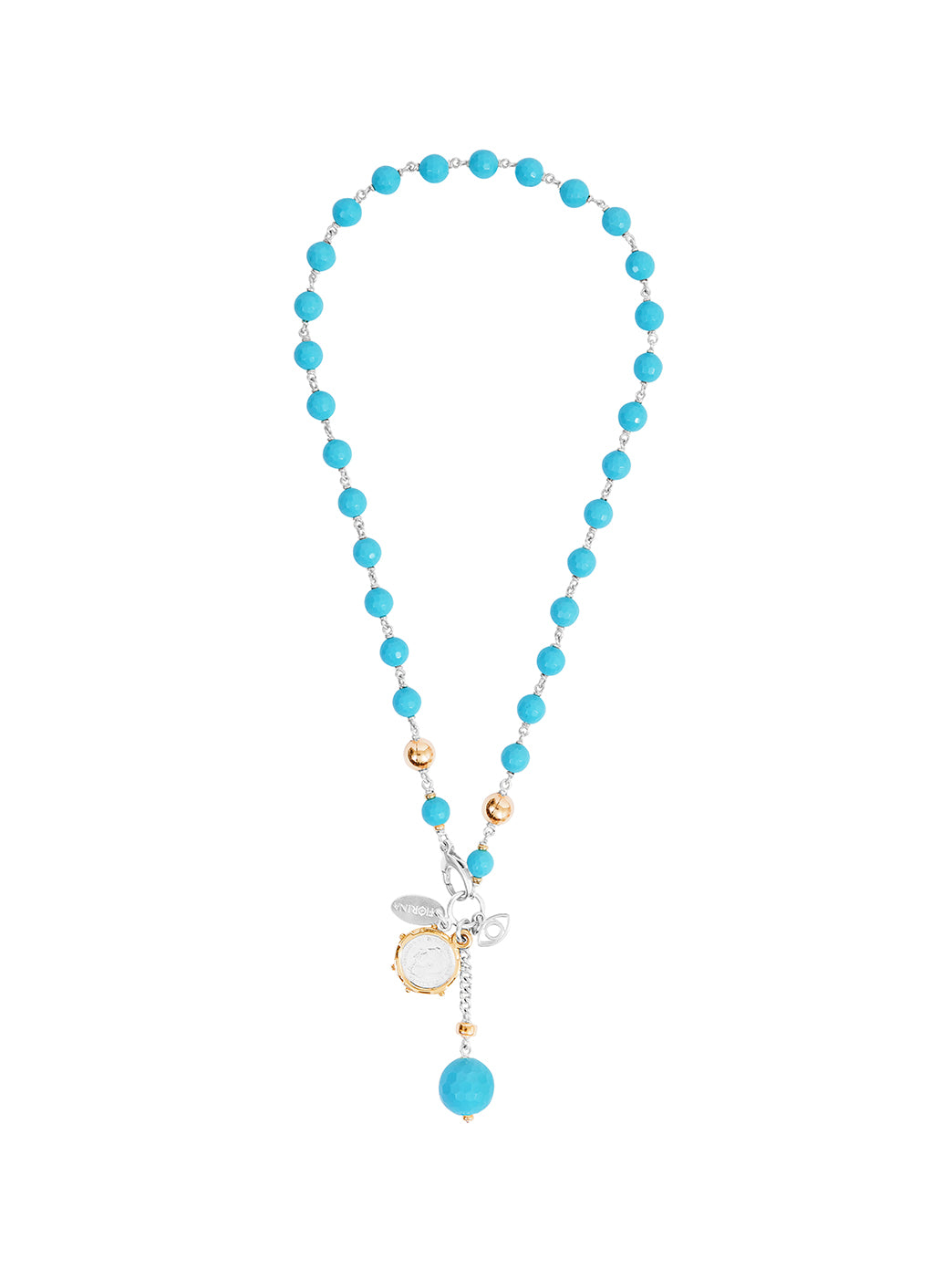 Fiorina Jewellery Pearlina Necklace Turquoise