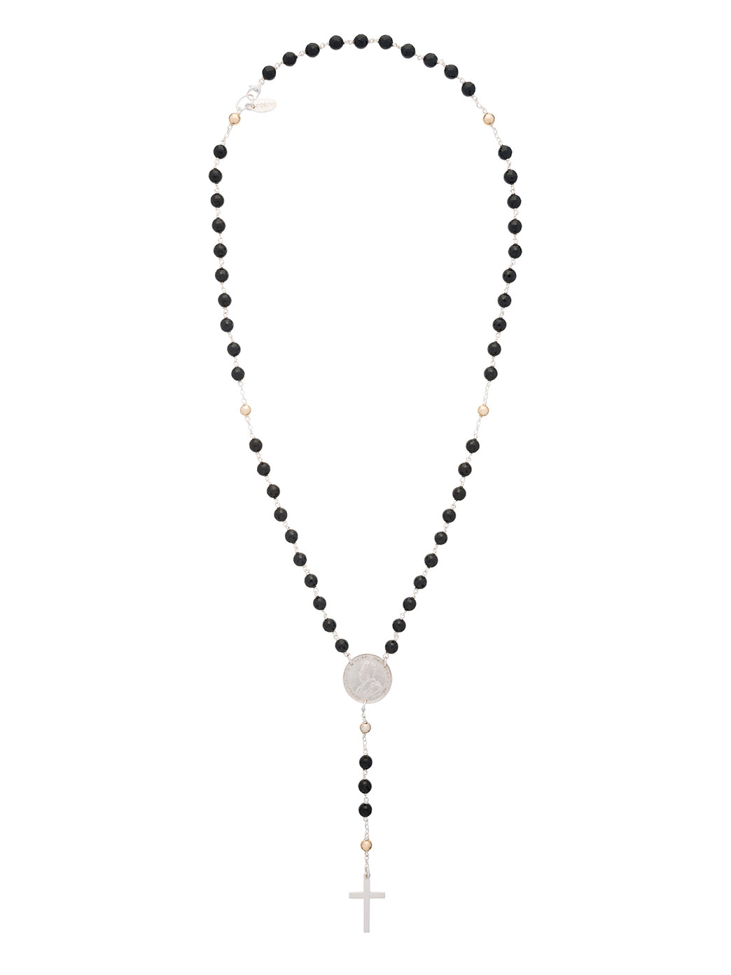 Fiorina Jewellery Rosary Necklace Black Onyx