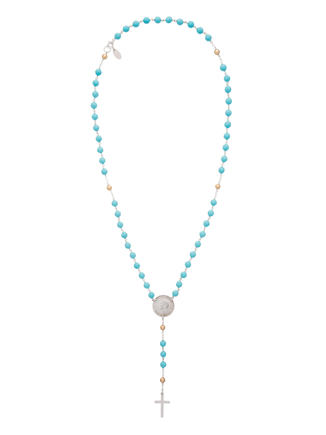 Fiorina Jewellery Rosary Necklace Turquoise