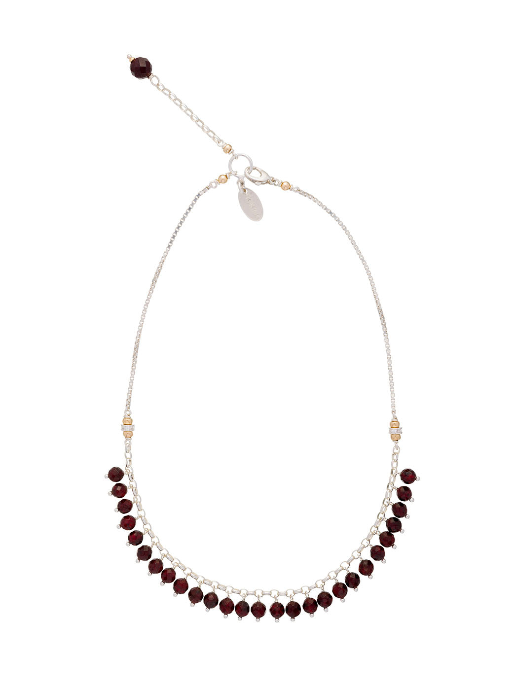 Fiorina Jewellery Raindrop Necklace Garnet