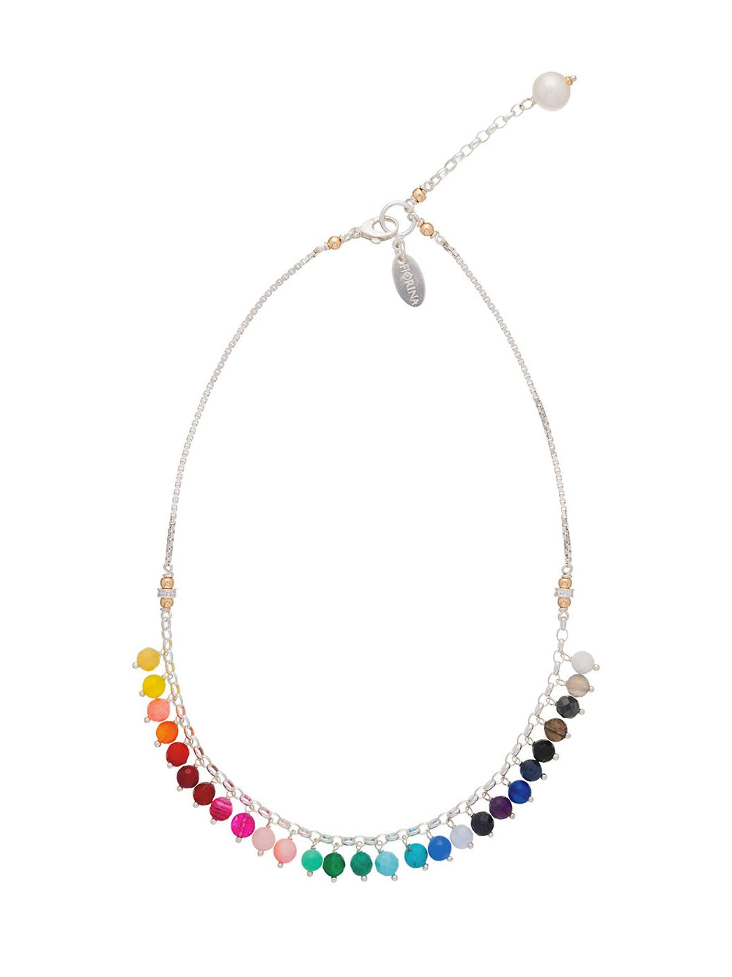 Fiorina Jewellery Raindrop Necklace Chakra