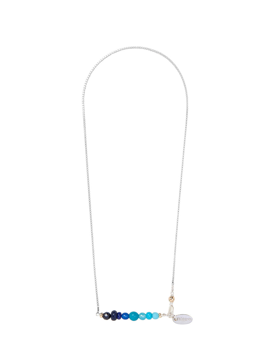 Fiorina Jewellery Ombre Necklace Blue Stones