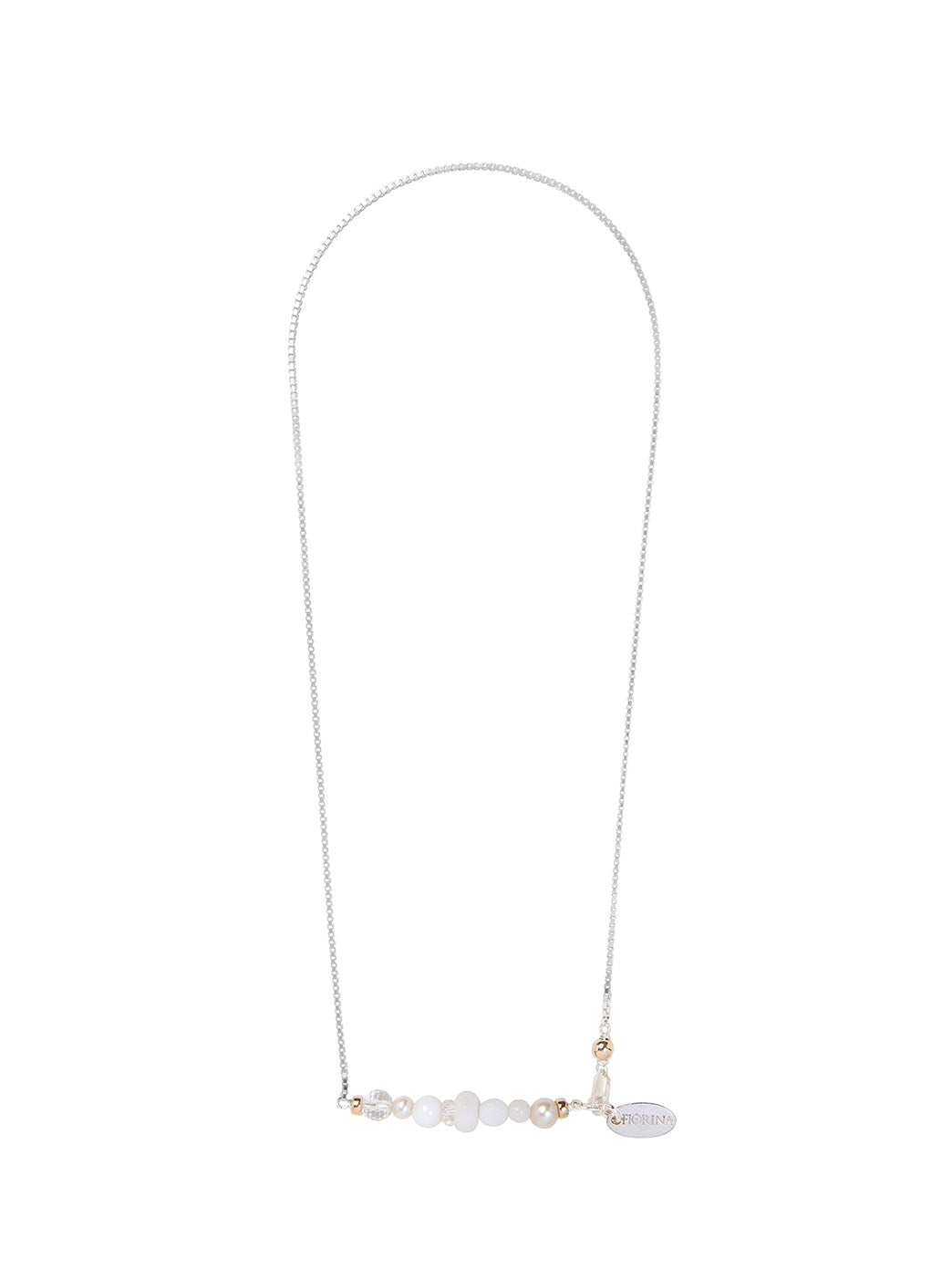 Fiorina Jewellery Ombre Necklace White Stones