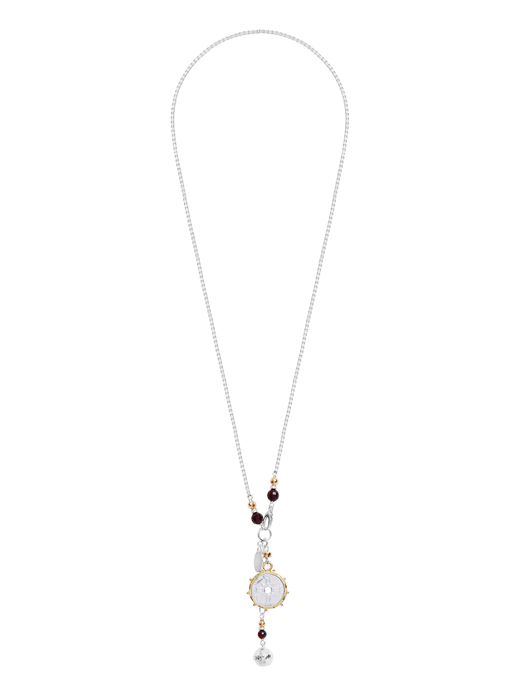 Fiorina Jewellery Gold Encased Jupiter Necklace Garnet and Gold