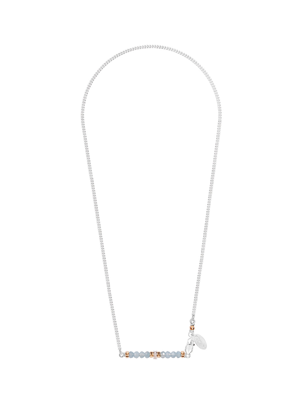 Fiorina Jewellery Silver Romance Necklace Aquamarine