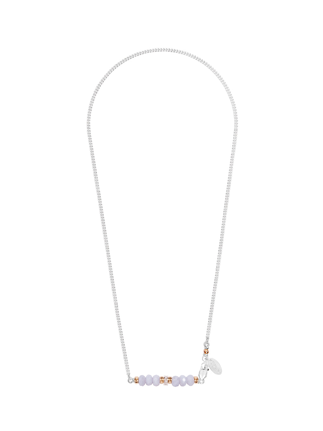 Fiorina Jewellery Silver Romance Necklace Chalcedony Faceted