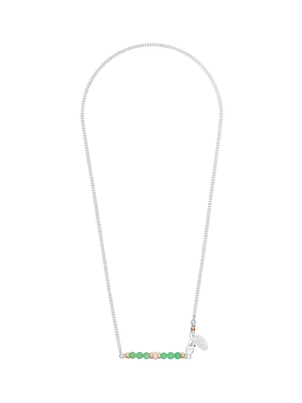 Fiorina Jewellery Silver Romance Necklace Chrysoprase