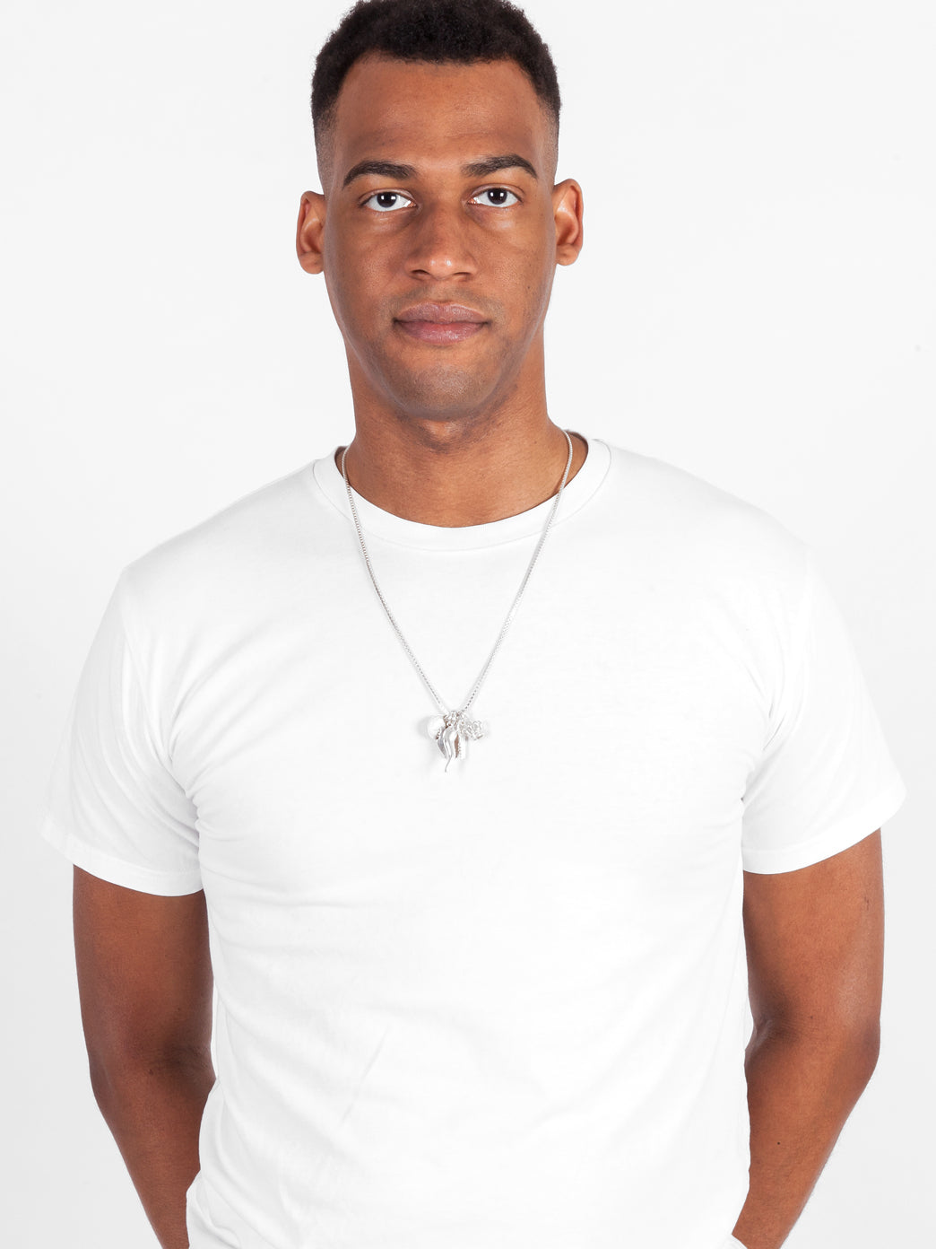 Fiorina Jewellery Mens Simple Charm Necklace