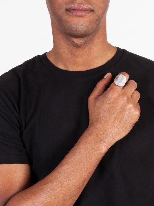 Fiorina Jewellery Bent coin Ring Mens Model