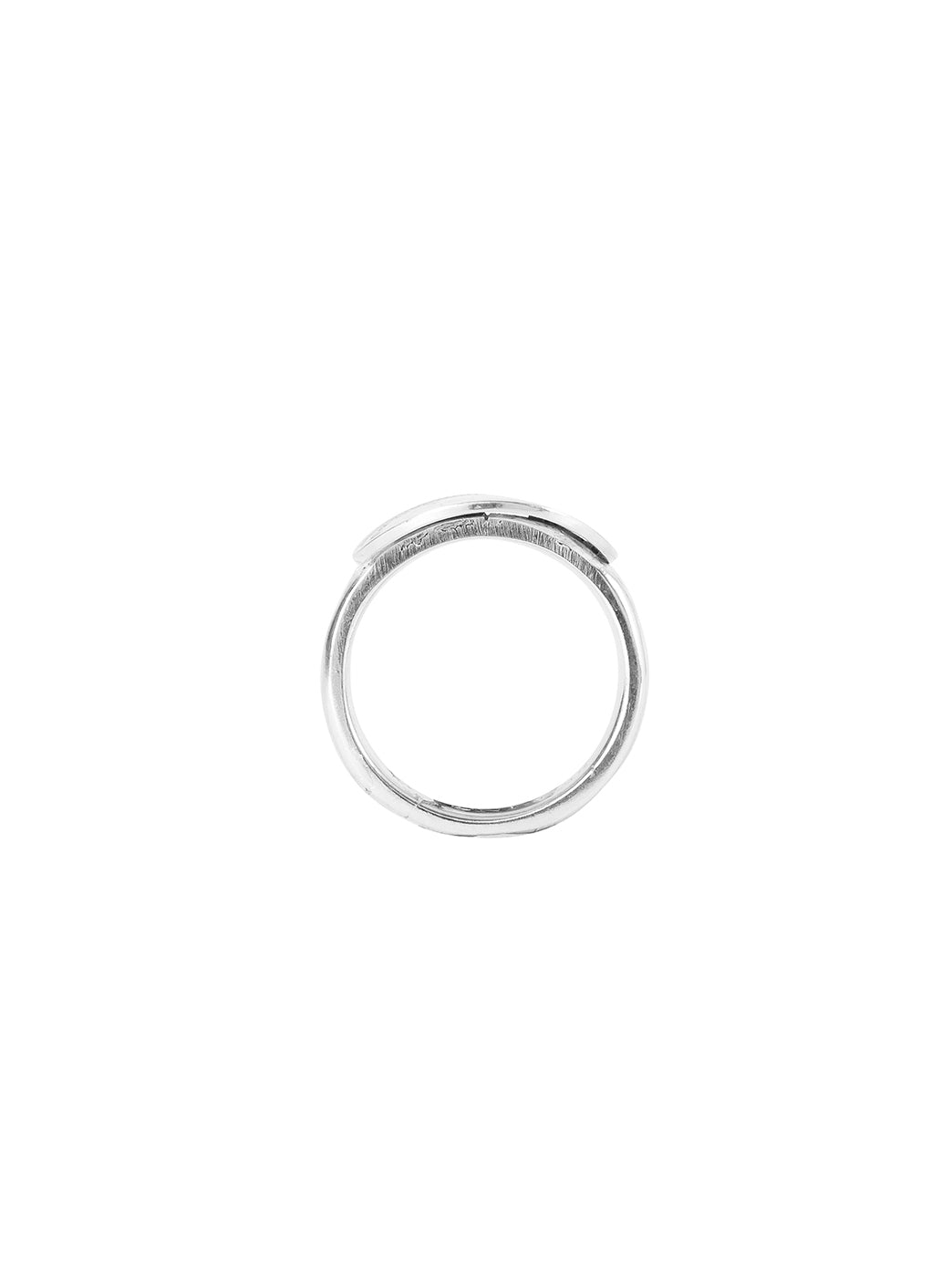 Fiorina Jewellery 3p Bent Coin Ring Finger View