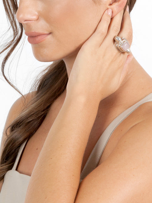 Fiorina Jewellery Chrysler Ring Rose Quartz Model