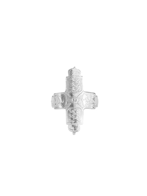 Fiorina Jewellery Coin Cross Ring Large
