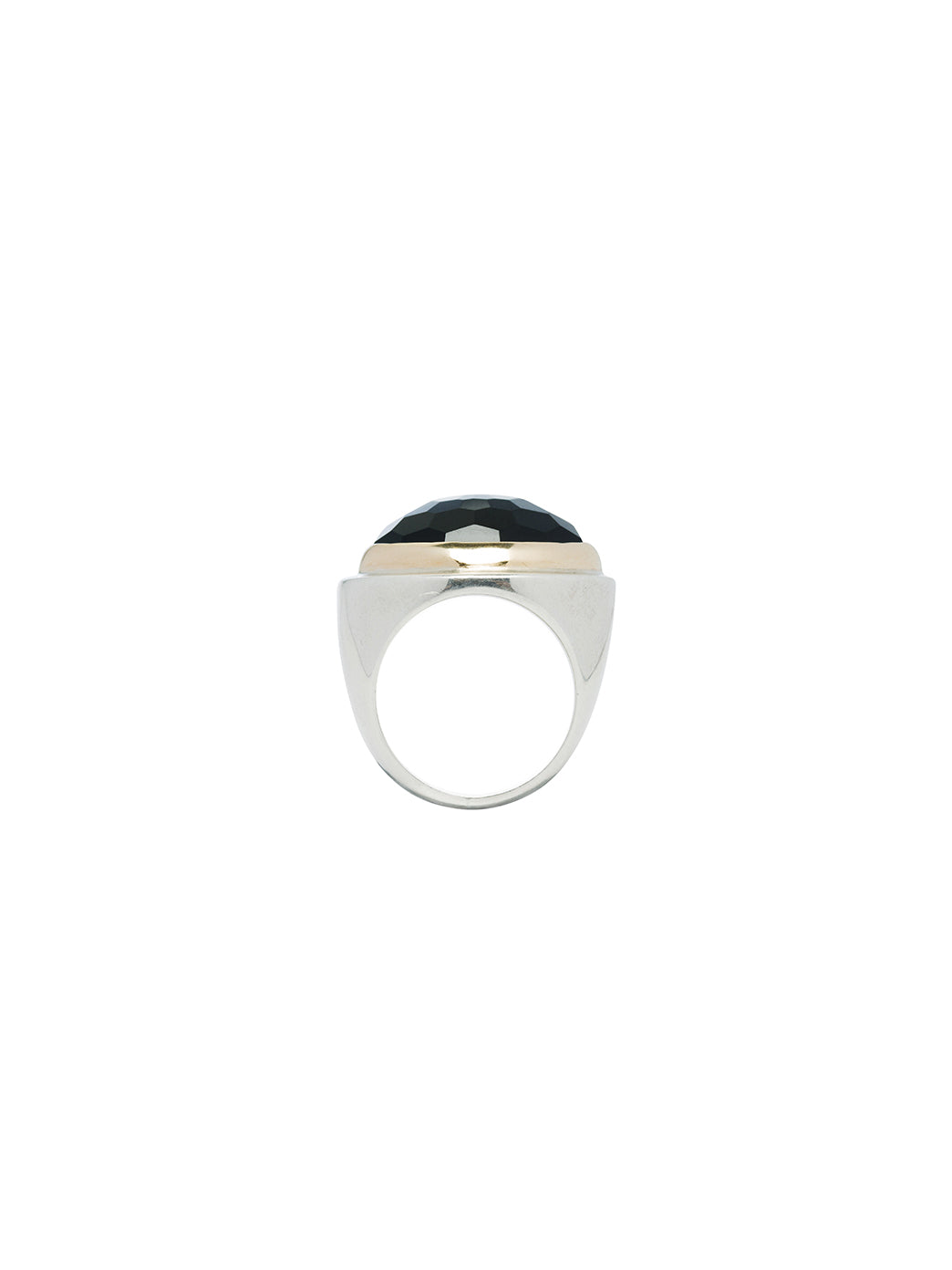 Fiorina Jewellery Bullseye Ring Black Onyx Side View