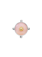 Fiorina Jewellery Fishband Ring Pink Opal