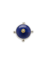 Fiorina Jewellery Round Fishband Ring Lapis