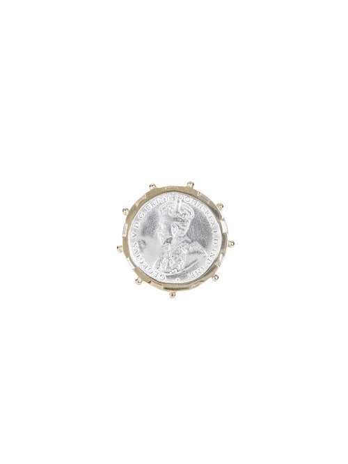 Fiorina Jewellery Gold Encased 6P Coin Ring