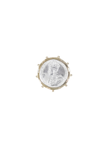 Gold Encased Shilling Coin Ring