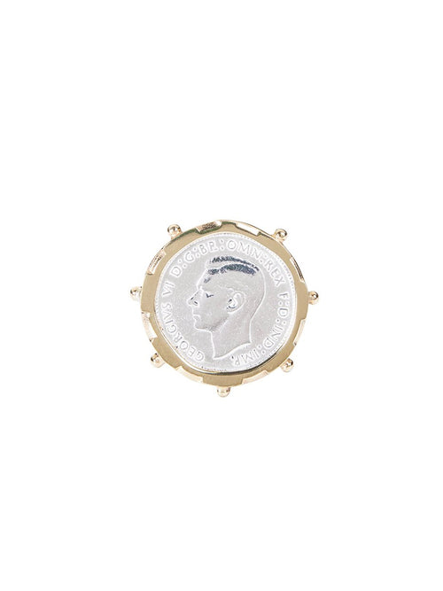Fiorina Jewellery Gold Encased Shilling Coin Ring