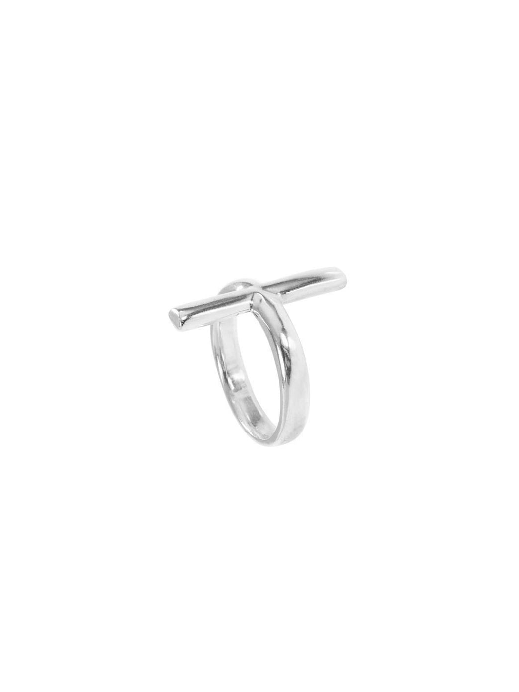 Fiorina Jewellery Grande Cross Ring Side View