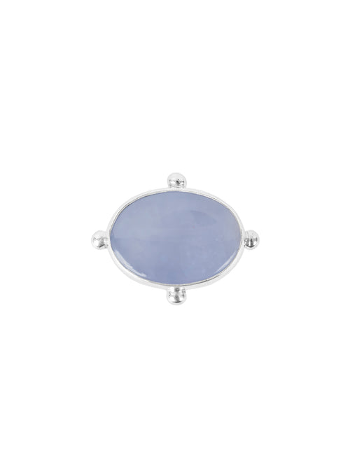 Fiorina Jewellery Large Oval Fishband Ring Chalcedony