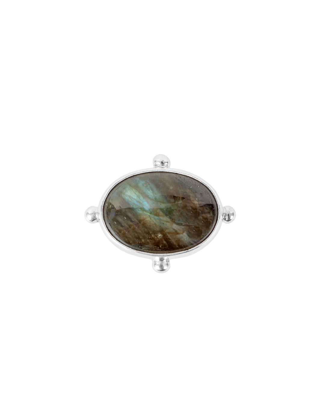 Fiorina Jewellery Large Oval Fishband Ring Labradorite