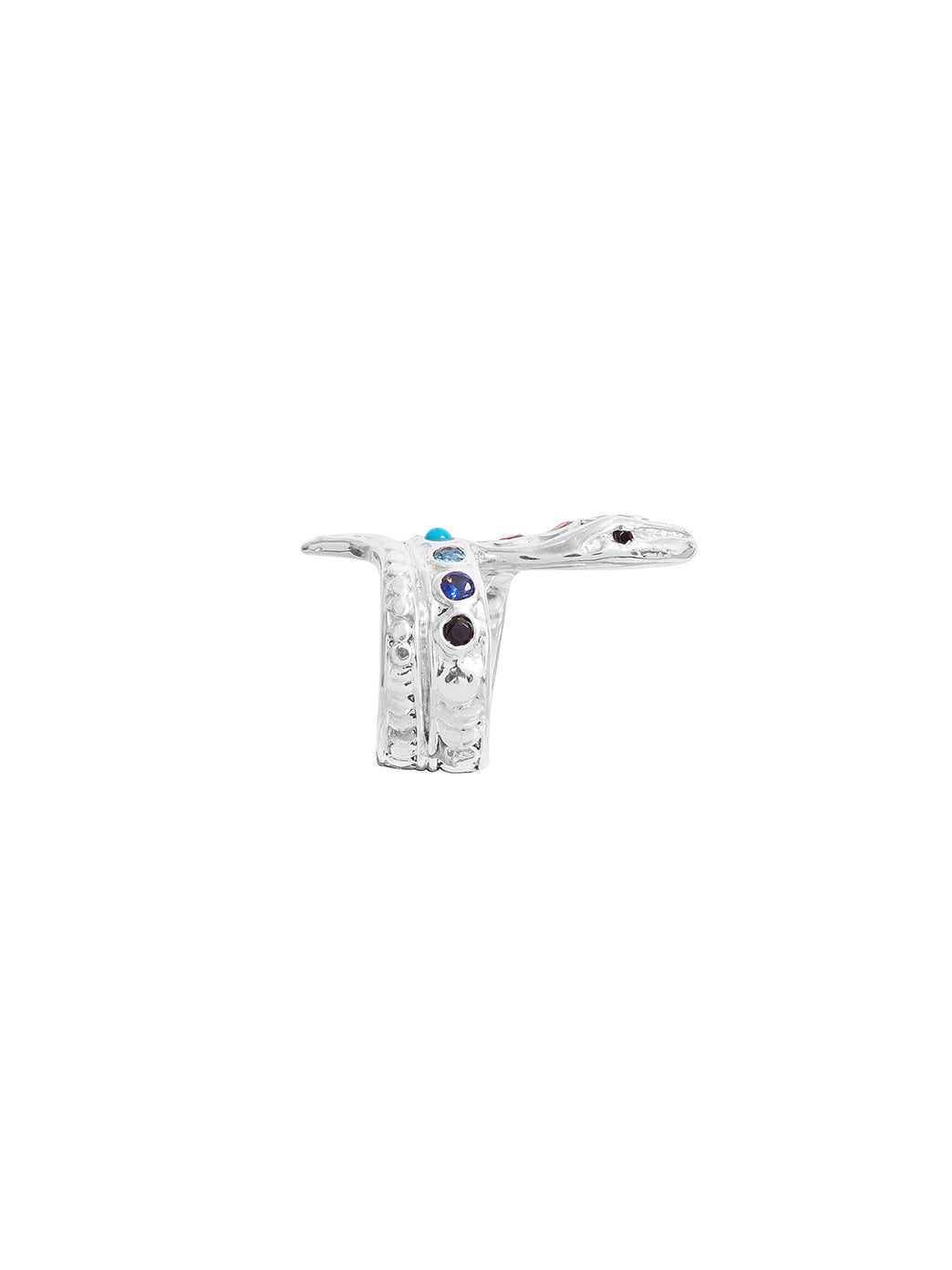 Fiorina Jewellery Chakra Snake Ring Side View