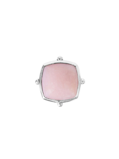Fiorina Jewellery Cushion Cut Fishband Ring Pink Opal