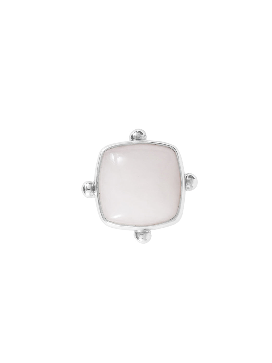 Fiorina Jewellery Cushion Cut Fishband Ring White Howlite