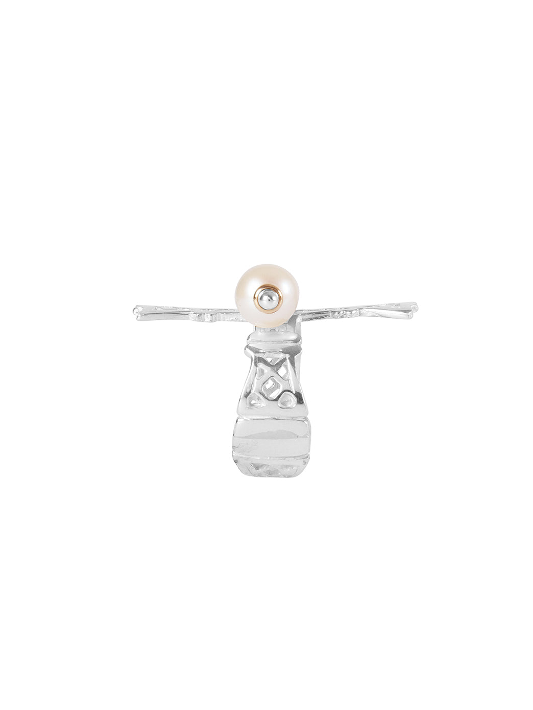 Fiorina Jewellery Lacroix Ring Pearl Side View