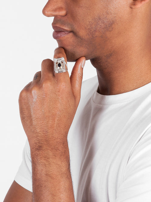 Fiorina Jewellery Mens College Ring Model Side View