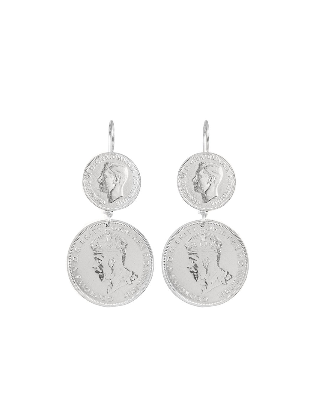 Fiorina Jewellery Double Coin Earrings