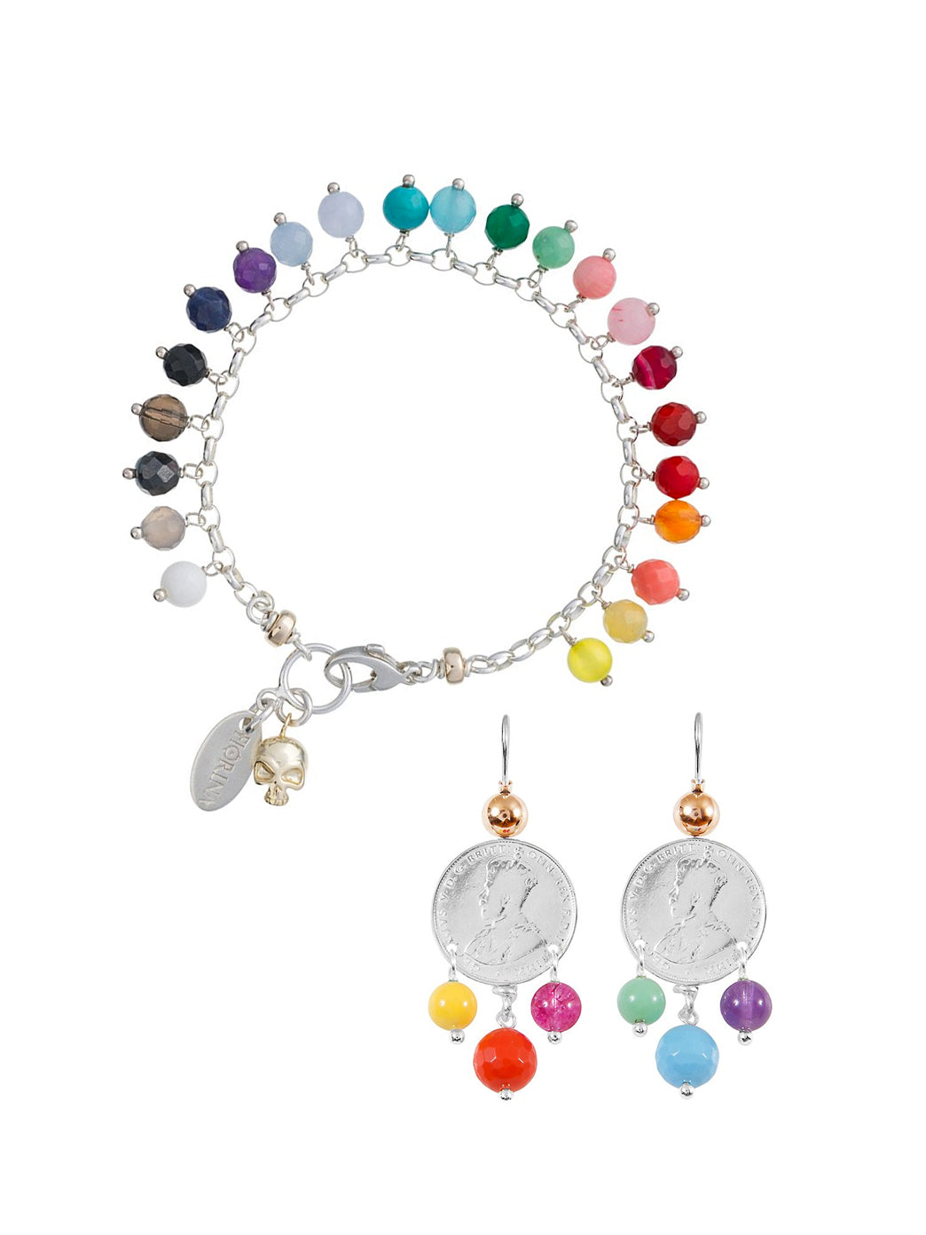 Fiorina Jewellery Happy Set Raindrop Bracelet and 3 Drop Earrings