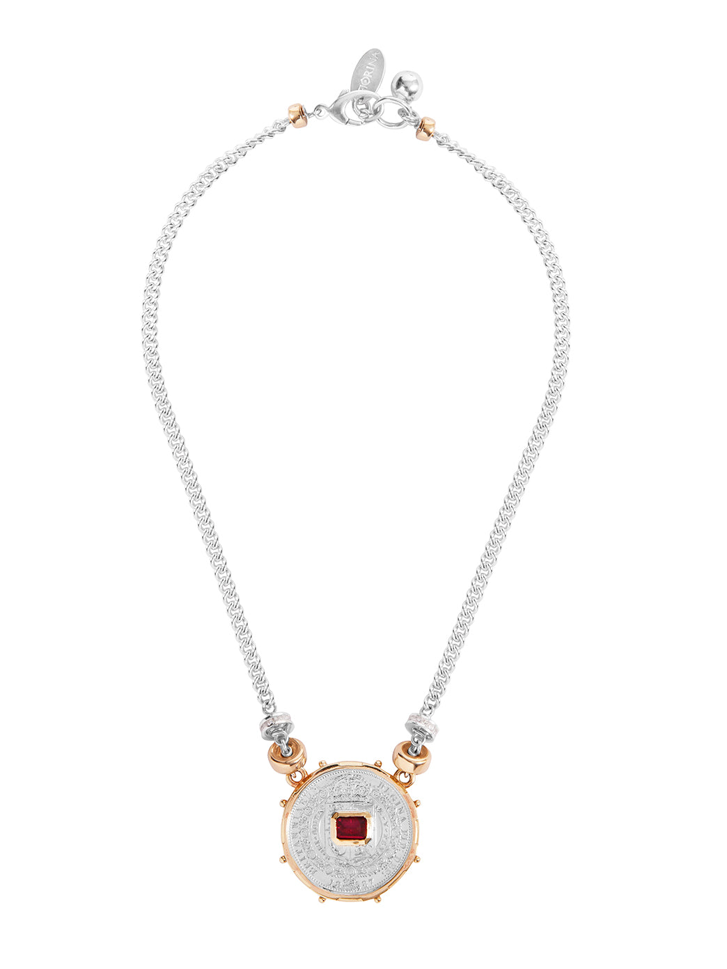 Fiorina Jewellery Medium Jewel Gem Necklace Ruby
